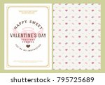 happy valentines day typography ... | Shutterstock .eps vector #795725689