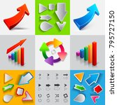 set of ascending arrows icons... | Shutterstock . vector #795727150