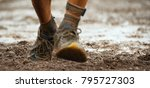 mud race runners detail of the...   Shutterstock . vector #795727303