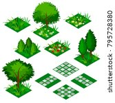 garden or farm isometric tile... | Shutterstock .eps vector #795728380