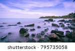 slow rock by the sea | Shutterstock . vector #795735058