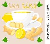 vector illustration logo for... | Shutterstock .eps vector #795743896