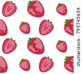 berry big red strawberry... | Shutterstock .eps vector #795745654