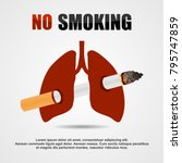 smoking  cigarette  ban vector...   Shutterstock .eps vector #795747859