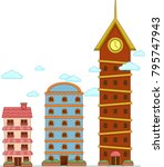 illustration of buildings to...   Shutterstock .eps vector #795747943