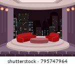 illustration of a talk show... | Shutterstock .eps vector #795747964