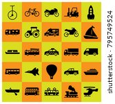 transport vector icons set.... | Shutterstock .eps vector #795749524