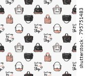 pattern with fashion... | Shutterstock .eps vector #795751483
