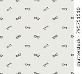 fashion pattern with hipster... | Shutterstock .eps vector #795751510