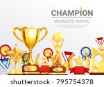 sport competitions winners... | Shutterstock .eps vector #795754378