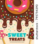 sweet baked goods for party... | Shutterstock .eps vector #795754390