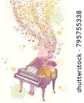 allegory of gorgeous music...   Shutterstock .eps vector #795755338