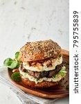 gourmet beef burger with cheese ... | Shutterstock . vector #795755839