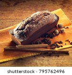 chocolate plum cake still life | Shutterstock . vector #795762496