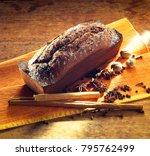 chocolate plum cake still life | Shutterstock . vector #795762499
