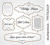 set of vintage frames template... | Shutterstock .eps vector #795762619