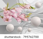 abstraction flowers and... | Shutterstock . vector #795762700