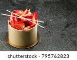 strawberry white chocolate... | Shutterstock . vector #795762823