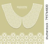 vector fashion background.... | Shutterstock .eps vector #795764830