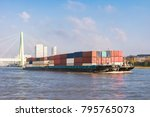 inland shipping transport on... | Shutterstock . vector #795765073