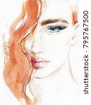 beautiful woman. fashion... | Shutterstock . vector #795767500