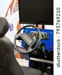 racing simulator game in theme... | Shutterstock . vector #795769210