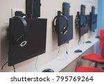 game computer club interior...   Shutterstock . vector #795769264