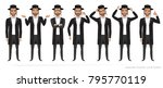 jew vector character isolated... | Shutterstock .eps vector #795770119