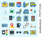 icons set about travel. with... | Shutterstock .eps vector #795771124