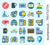 icons set about travel. with... | Shutterstock .eps vector #795772774