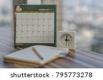 notebook with pencil diary... | Shutterstock . vector #795773278