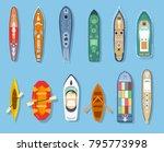 isometric set ship frigate boat ... | Shutterstock .eps vector #795773998