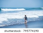 surfing the waves of indonesia... | Shutterstock . vector #795774190