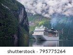 beautiful landscape in... | Shutterstock . vector #795775264