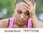 unhappy minority person | Shutterstock . vector #795775768