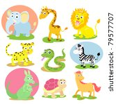 animal wildlife set | Shutterstock .eps vector #79577707