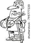 an injured cartoon man in... | Shutterstock .eps vector #795777220