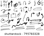 hand drawn doodle vector arrows.   Shutterstock .eps vector #795783328