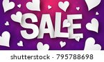 valentines day sale background... | Shutterstock .eps vector #795788698