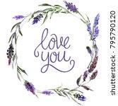 valentine flower wreath....   Shutterstock . vector #795790120