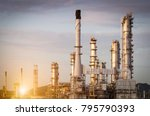 oil refinery and refinery... | Shutterstock . vector #795790393