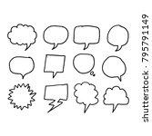 speech bubble icon hand drawn | Shutterstock .eps vector #795791149