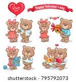 happy valentines day set of... | Shutterstock .eps vector #795792073