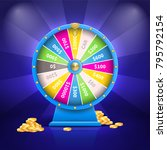 fortune wheel with colorful... | Shutterstock .eps vector #795792154