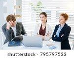 big failure. serious focused... | Shutterstock . vector #795797533