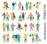 vector illustration in a flat... | Shutterstock .eps vector #795801730