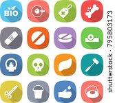 flat vector icon set   bio... | Shutterstock .eps vector #795803173