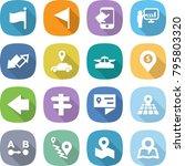 flat vector icon set   flag... | Shutterstock .eps vector #795803320
