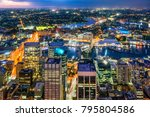 night scene of  the city center ... | Shutterstock . vector #795804586