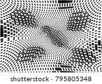 abstract halftone dotted grunge ... | Shutterstock .eps vector #795805348